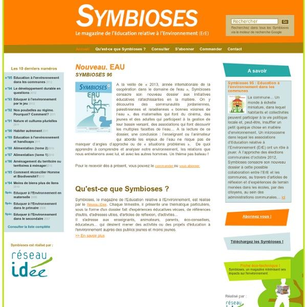 Symbioses - Le magazine de l'Education à L'Environnement (ErE) - Accueil