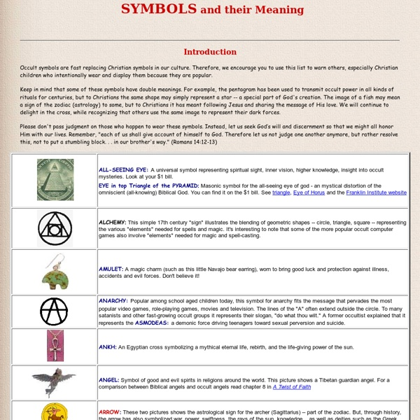 Common symbols in mythology that produce specific meaning and imagery