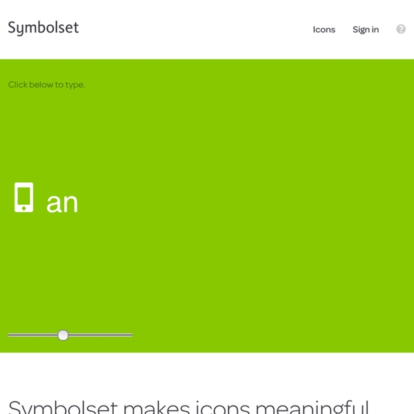 Symbolset - Turn words into icons using font magic