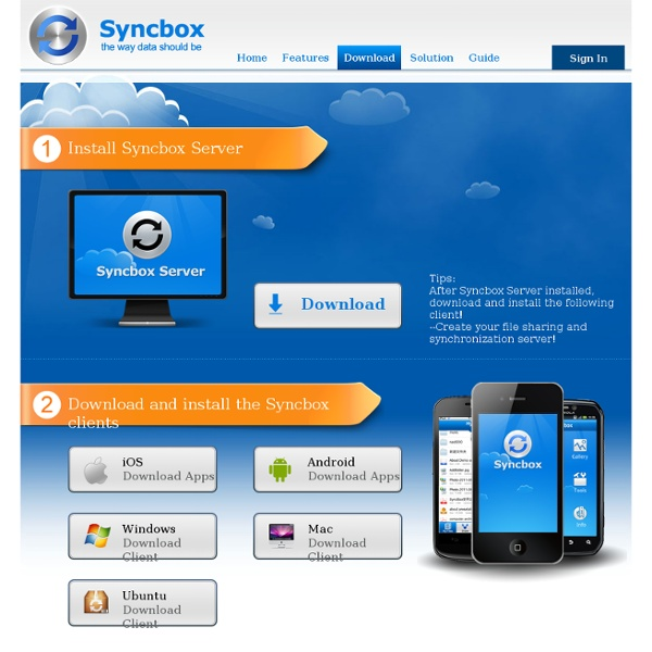 Syncbox: Your PC Into Personal Cloud Server