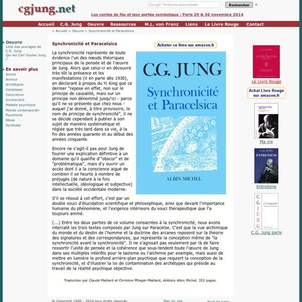 Synchronicité et Paracelsica (Carl Gustav Jung).