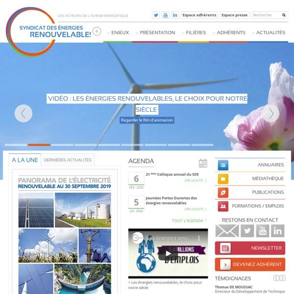 >Site internet du Syndicat des énergies renouvelables