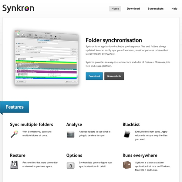 Synkron – Folder synchronisation