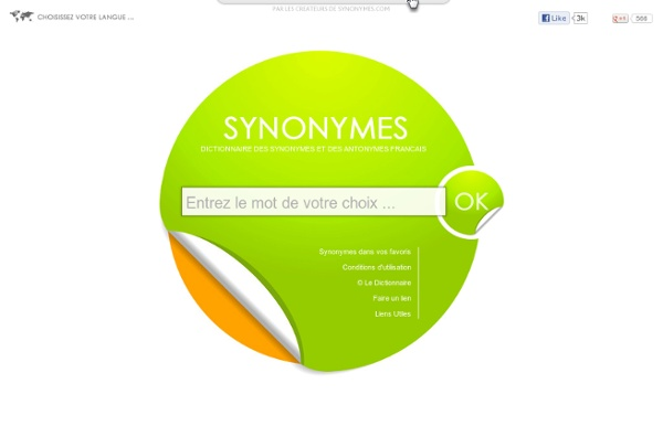 Dictionnaire des synonymes & antonymes