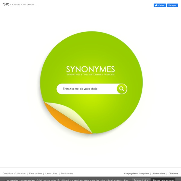 Dictionnaire Synonymes / Antonymes