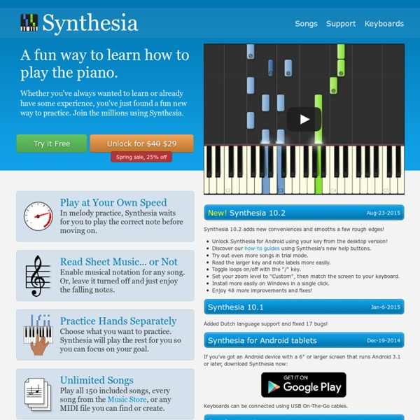 Synthesia, Piano for Everyone