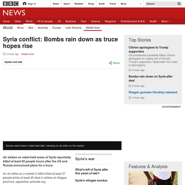 Syria conflict: Bombs rain down as truce hopes rise