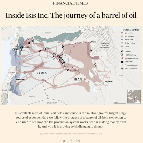 Syria oil map: the journey of a barrel of Isis oil