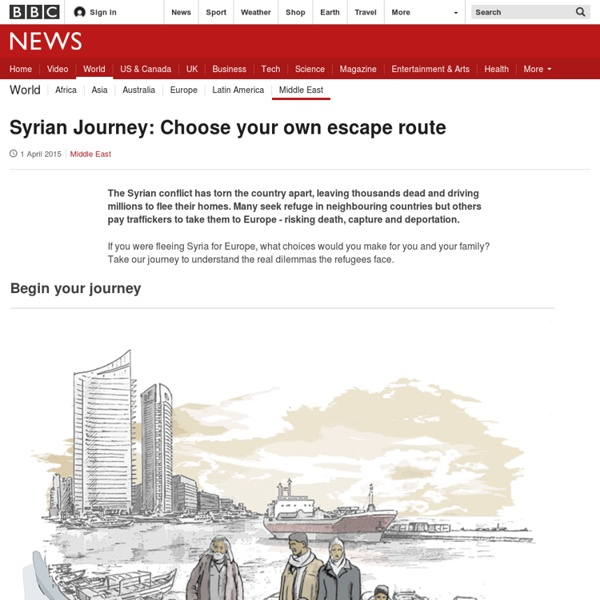 Syrian Journey: Choose your own escape route - BBC News