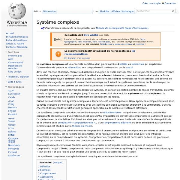 Système complexe