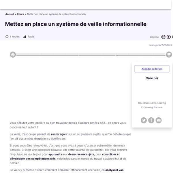 Mettez en place un système de veille informationnelle