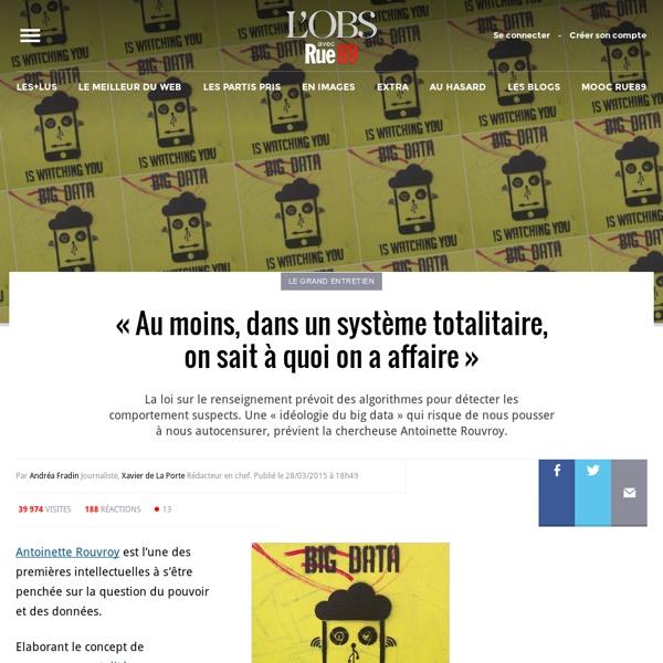 «Au moins, dans un système totalitaire, on sait à quoi on a affaire» - Rue89 - L'Obs