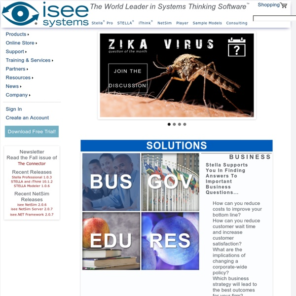 Isee systems - The World Leader in Systems Thinking Software
