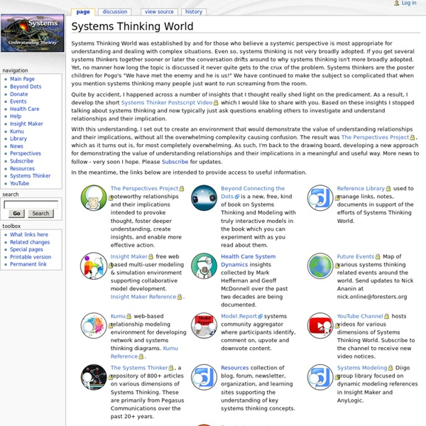 Systems Thinking World Wiki - SystemsWiki