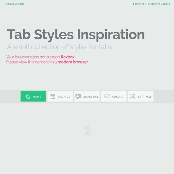 Tab Styles Inspiration