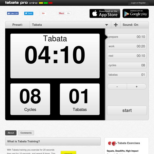 Online Tabata Timer