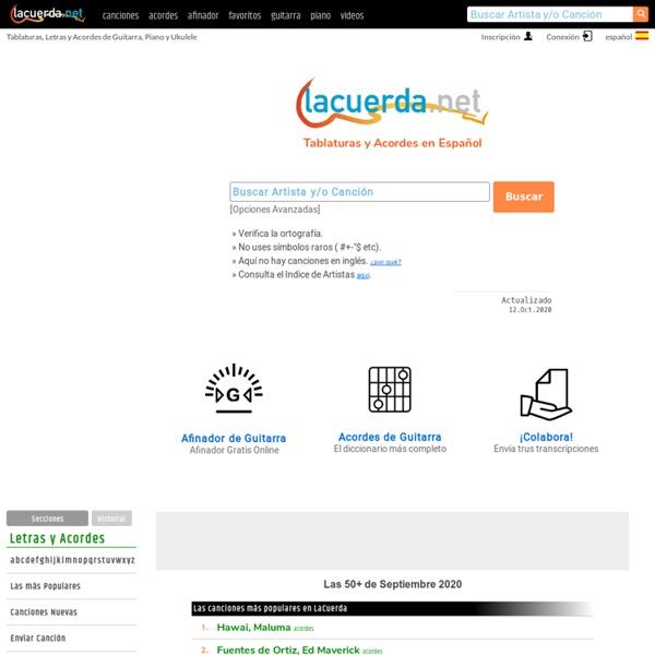 Lacuerda.net - Tablaturas y Acordes de Guitarra