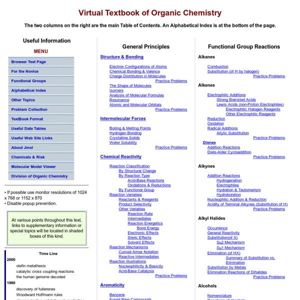 VirtualText of Organic Chemistry