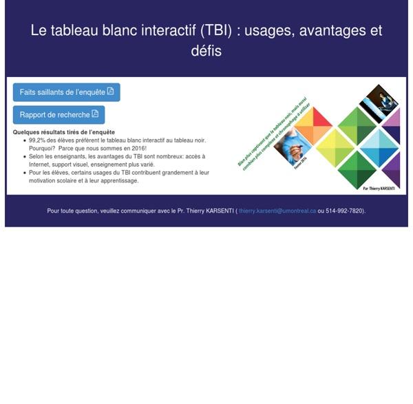 Le tableau blanc interactif (TBI) : usages, avantages et défis