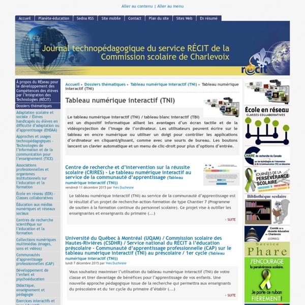 Tableau numérique interactif (TNI)