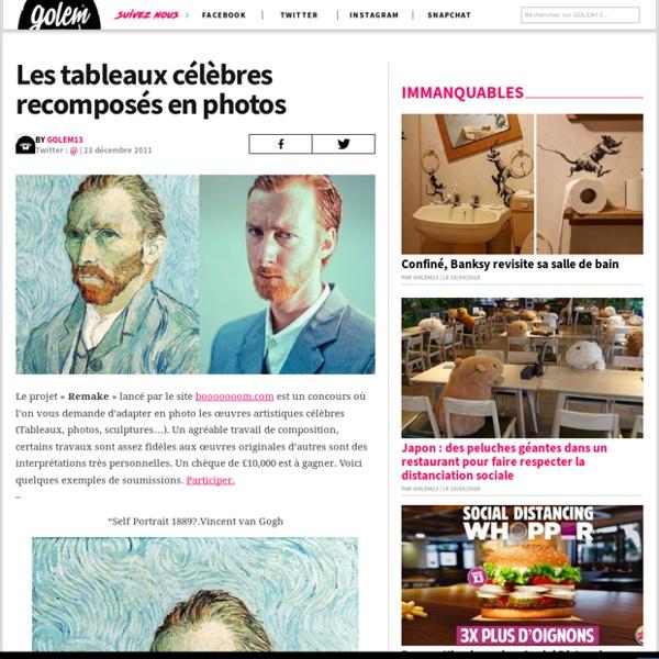 Les tableaux célèbres recomposés en photos