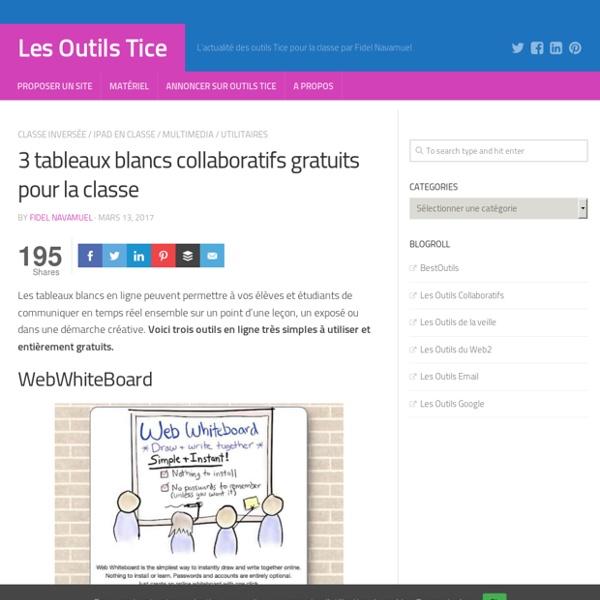 3 tableaux blancs collaboratifs gratuits pour la classe – Les Outils Tice