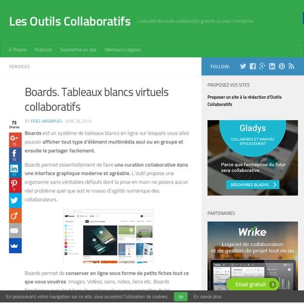 Boards. Tableaux blancs virtuels collaboratifs