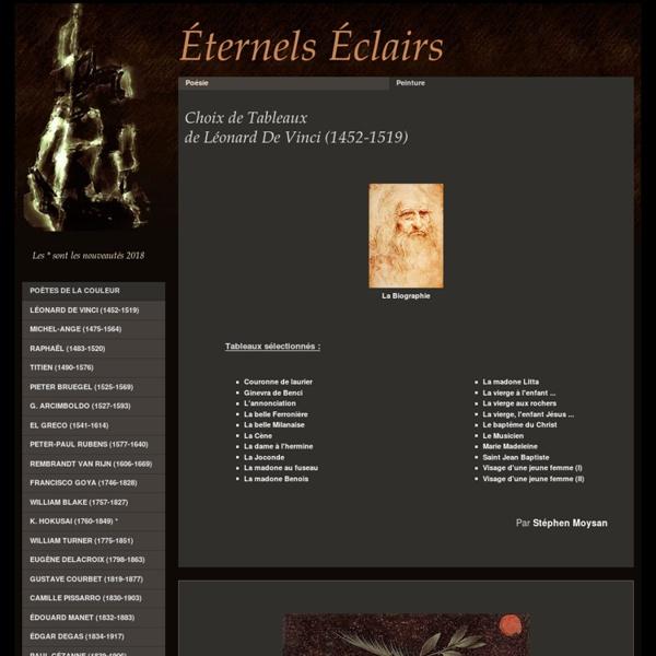 Tableaux de Léonard de Vinci