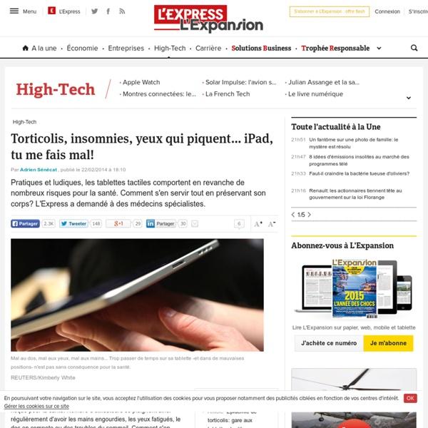 iPad, tablette: les effets négatifs sur la santé