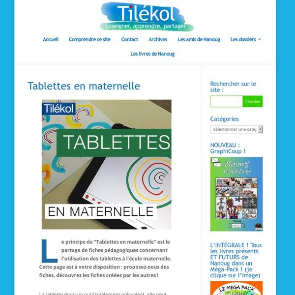 Tablettes en maternelle
