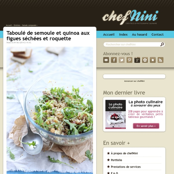 Taboulé de semoule et quinoa aux figues séchées et roquette