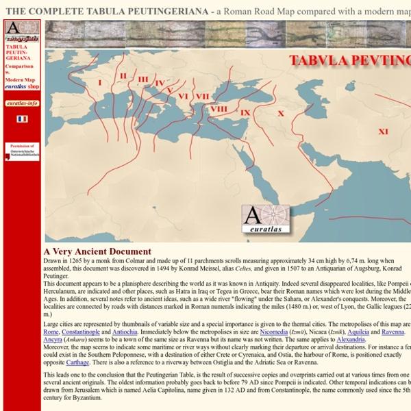 Tabula peutingeriana, a roman road map