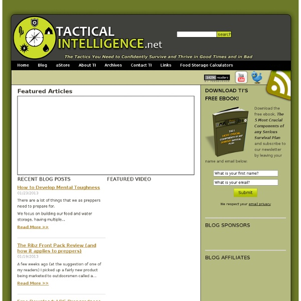 Tactical Intelligence