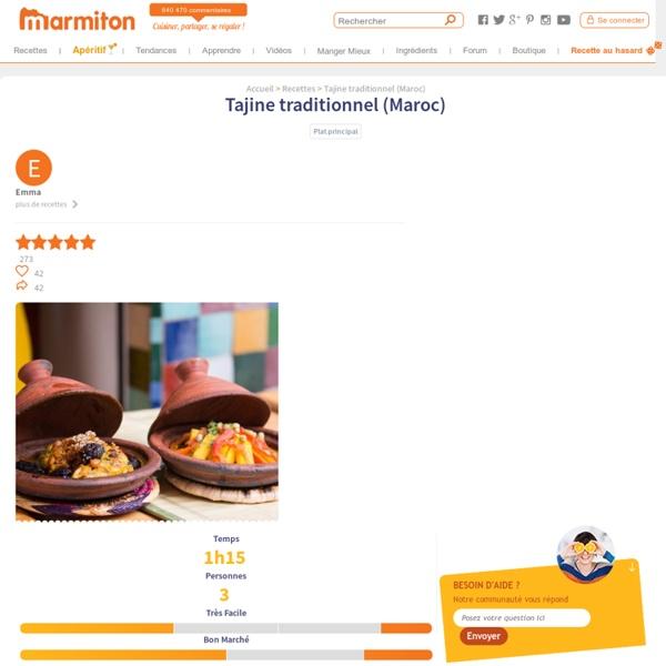 Tajine traditionnel (Maroc) - Recette de cuisine Marmiton : une