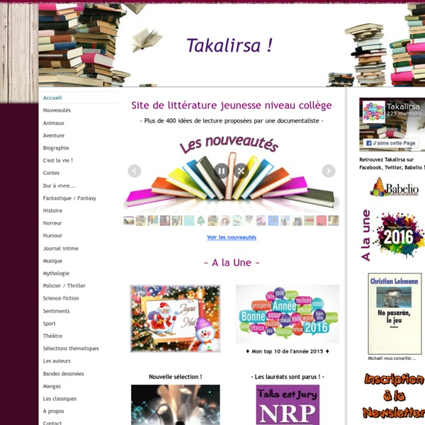 Takalirsa : site de littérature jeunesse niveau collège - Takalirsa !