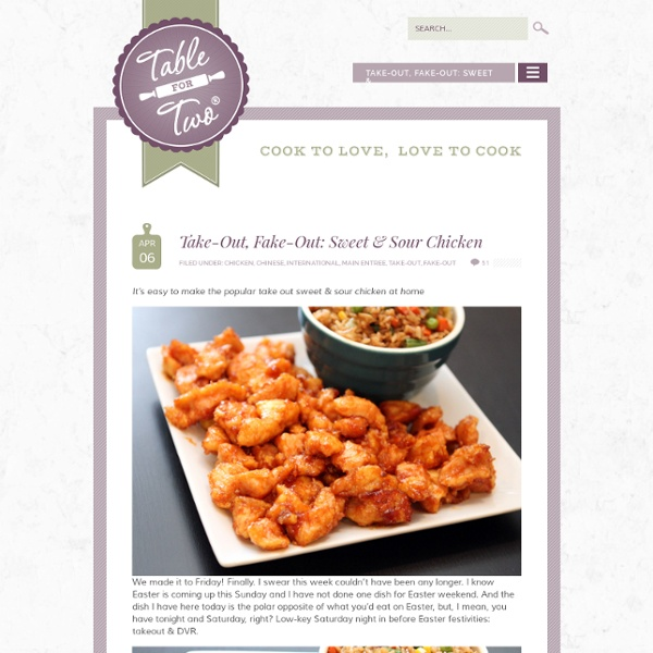 Take-Out, Fake-Out: Sweet & Sour Chicken