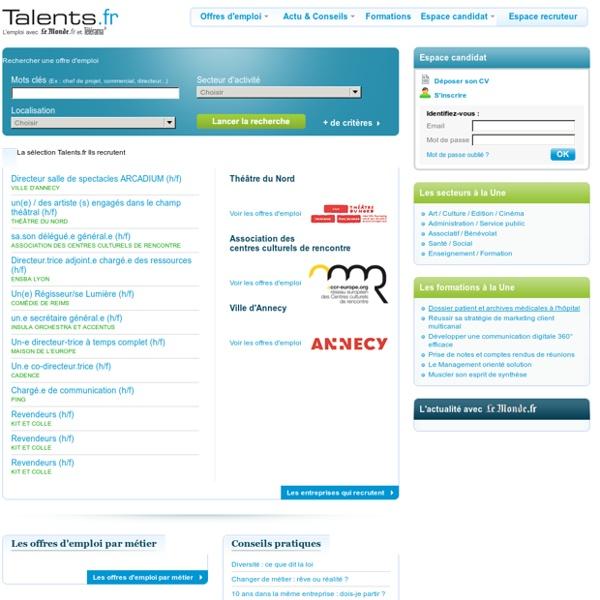 Talents.fr - Offres d'emploi