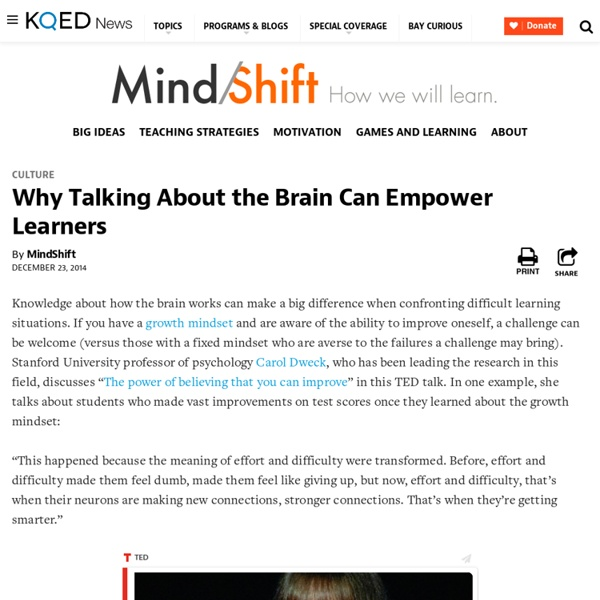 Why Talking About the Brain Can Empower Learners