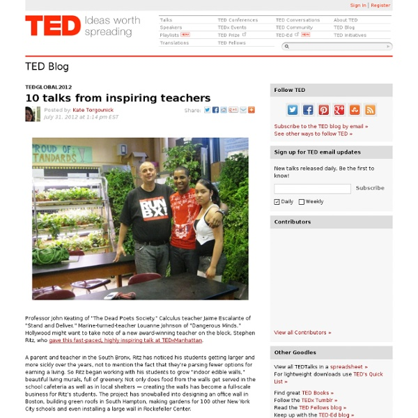 10 talks from inspiring teachers
