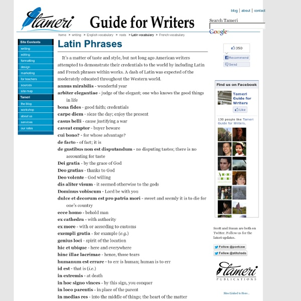 Guide for Writers: Latin Phrases