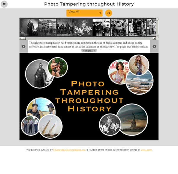 Photo Tampering throughout History