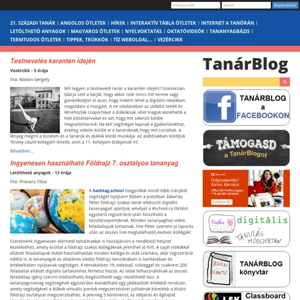 Tanárblog - az IKT portál