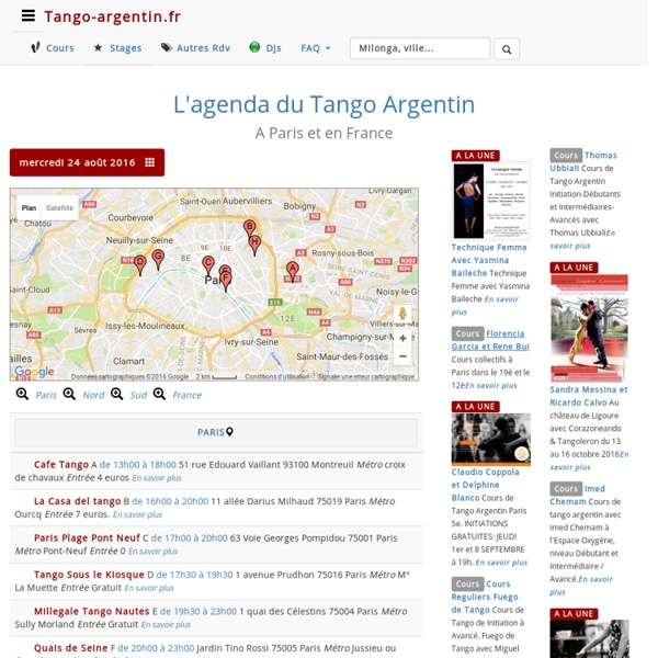 Tango-Argentin.Fr : L'Agenda du Tango argentin à Paris