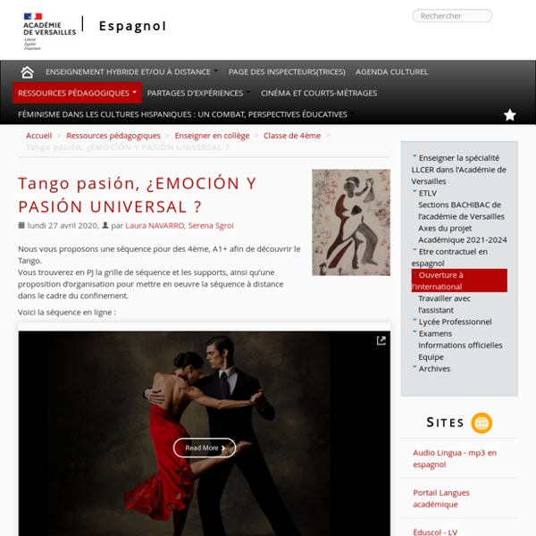 Tango pasión, ¿EMOCIÓN Y PASIÓN UNIVERSAL ?