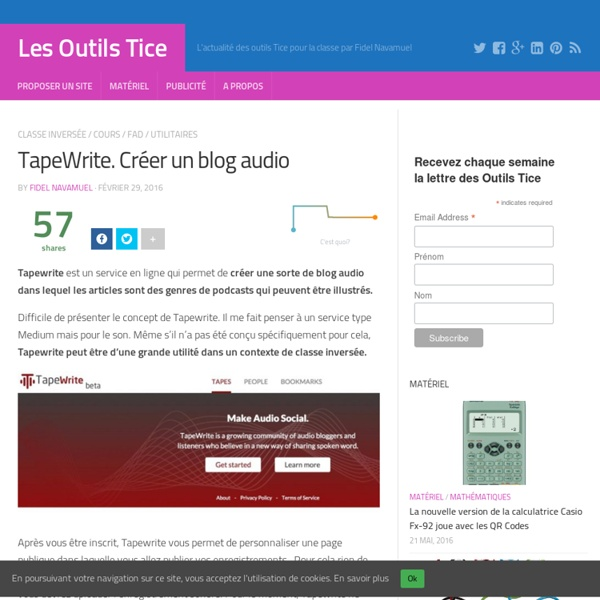 TapeWrite. Créer un blog audio
