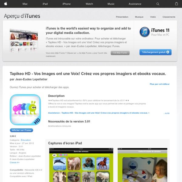 Tapikeo HD - Vos Images ont une Voix! Créez vos propres imagiers et ebooks vocaux. pour iPhone, iPod touch et iPad dans l'App Store sur iTunes