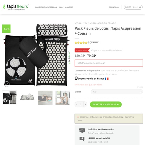 Tapis Acupression - Tapis de Fleur Lotus N°1 en France!