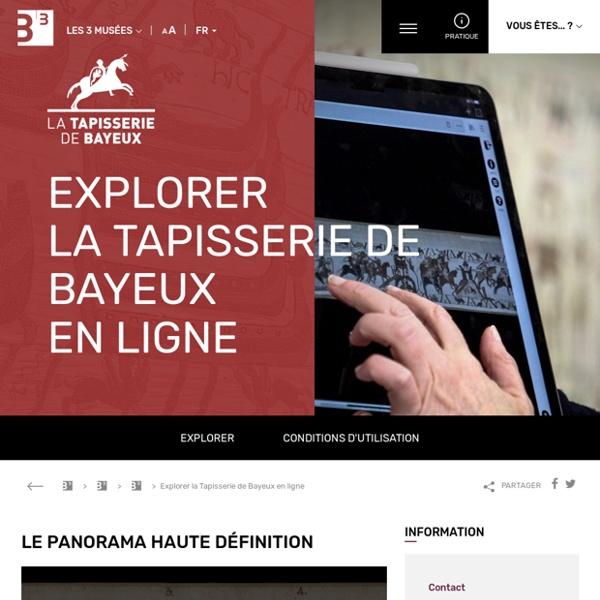 Tapisserie de Bayeux en ligne : Tapisserie animée & intéractive