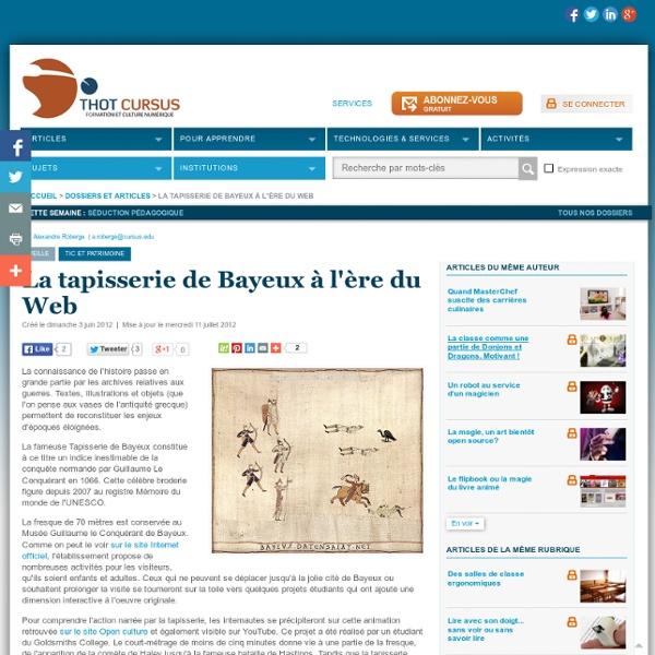La tapisserie de Bayeux à l'ère du Web