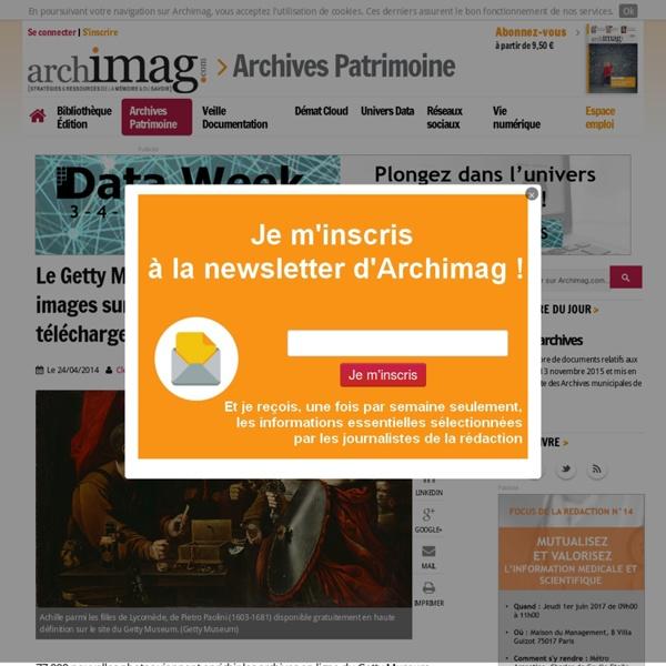 Le Getty Museum met en ligne 77 000 images sur l'art italien et les tapisseries à télécharger et utiliser gratuitement